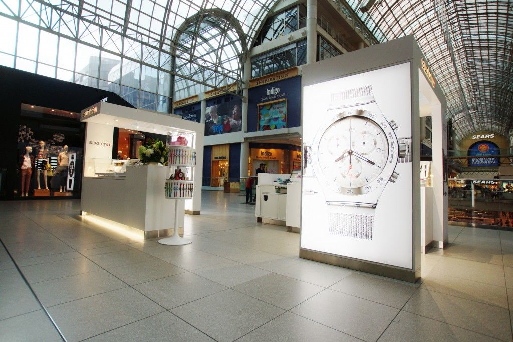 Swatch Kiosk and Advertising Display