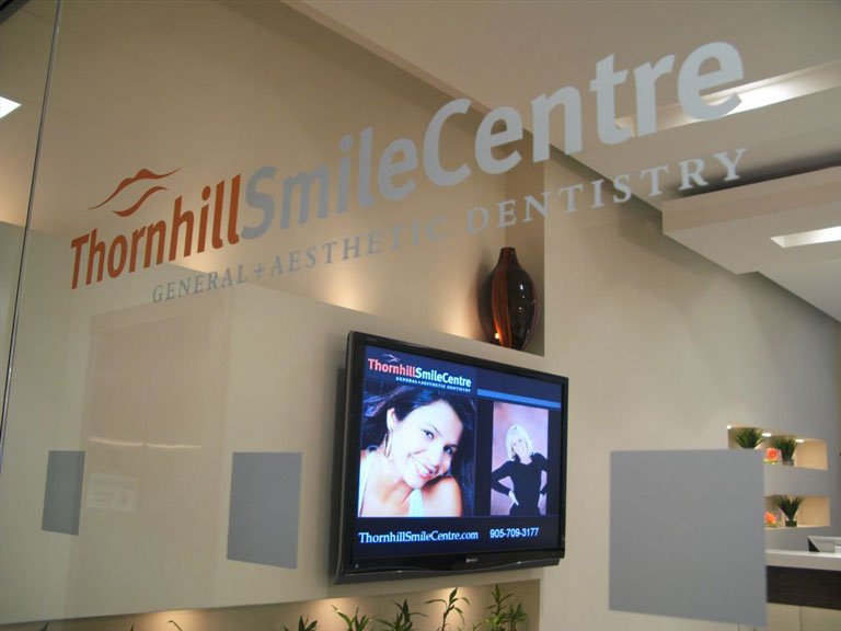 Smile Centre Logo on glass